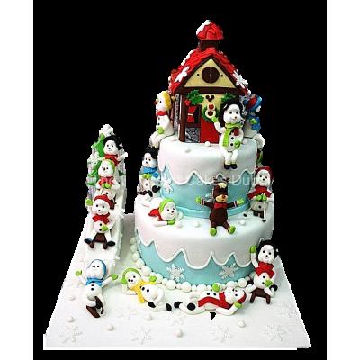 Winter theme cake