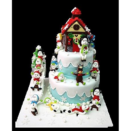 winter theme cake 6