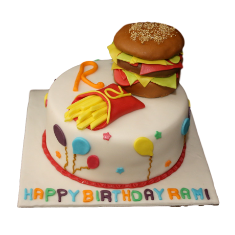 burger and fries cake 6