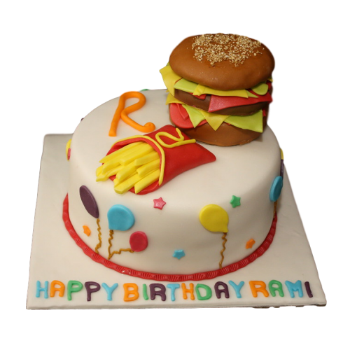 burger and fries cake 7