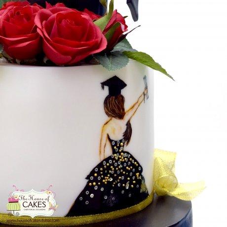 graduation cake 7 7