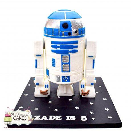 r2-d2 robot star wars cake 6