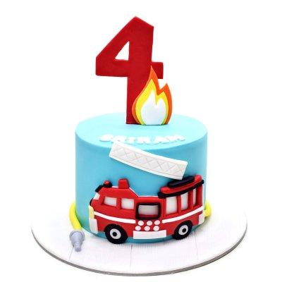 Fire Truck Cake 4