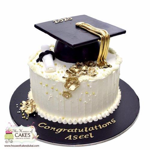 graduation cake 6 7
