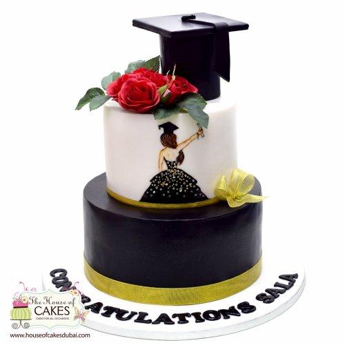graduation cake 7 8