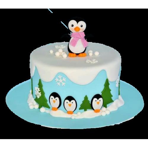 Cute Penguins Cake