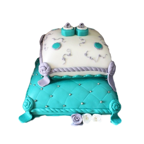 Engagement rings cake 4