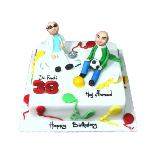 Engineer and dentist cake
