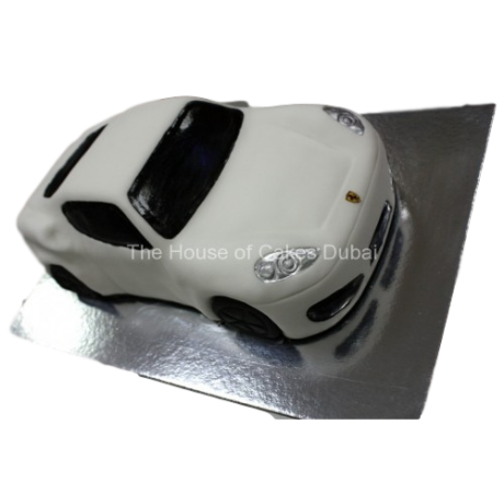 Ferrari car cake - white