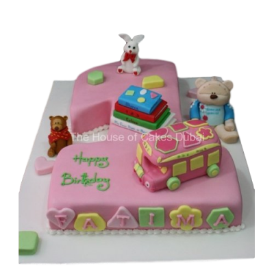 First Birthday cake with toys