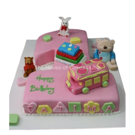 first birthday cake with toys 6