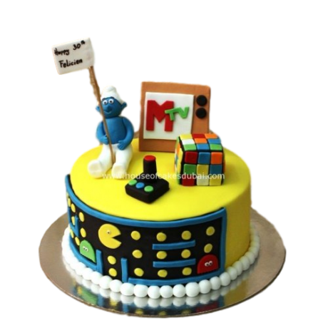 80's theme cake 2 6