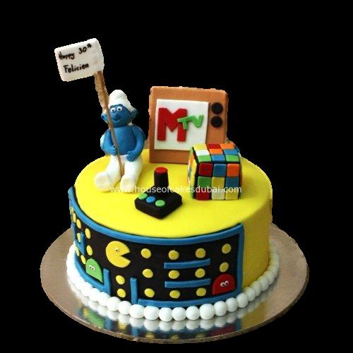 80's theme cake 2 7