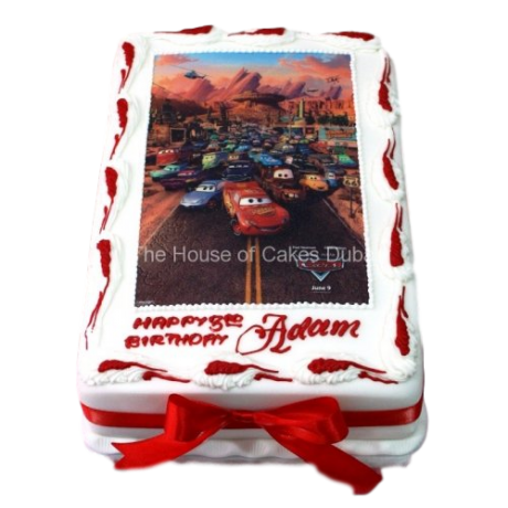 cars cake with edible image 7 6