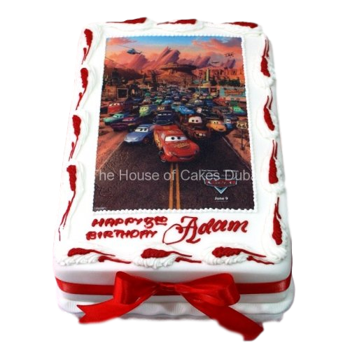 cars cake with edible image 7 7