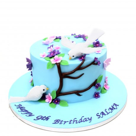 Birds and flowers cake 2