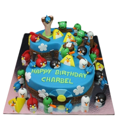 Angry birds cake 7