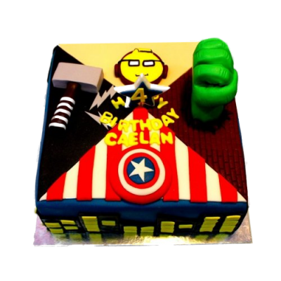 Superheroes cake 8