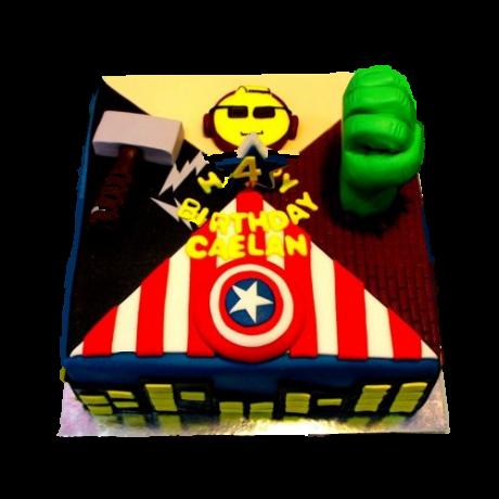 superheroes cake 8 6
