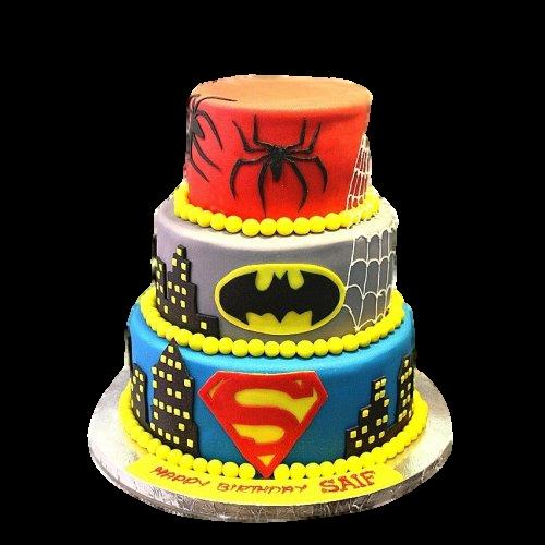 Superheroes cake 9