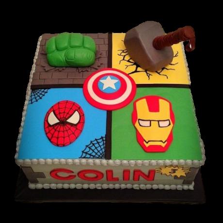 avengers cake 6 6