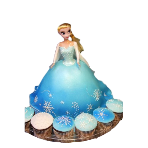 Elsa cake and cupcakes