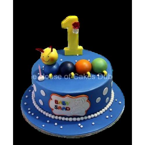 Baby caterpillar cake