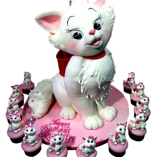lady cat cake and cupcakes 7