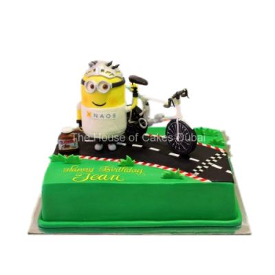Minion and bicycle cake