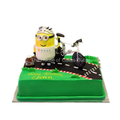 minion and bicycle cake 12
