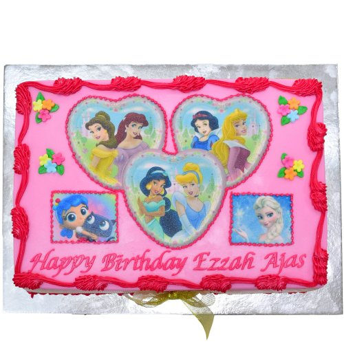 Disney Princesses cake with photo 4