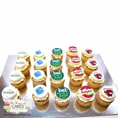 Cheeses logo cupcakes