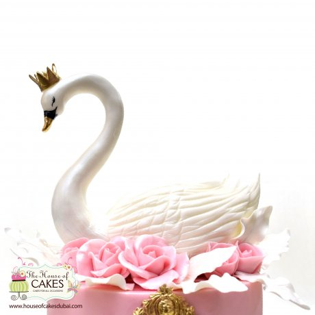 Cake with swan