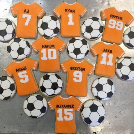 football and shirt cookies 7