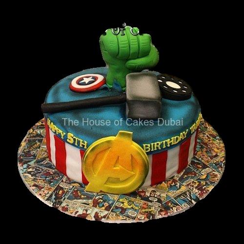 avengers cake 5 7