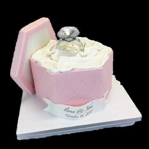 engagement ring cake 5 7