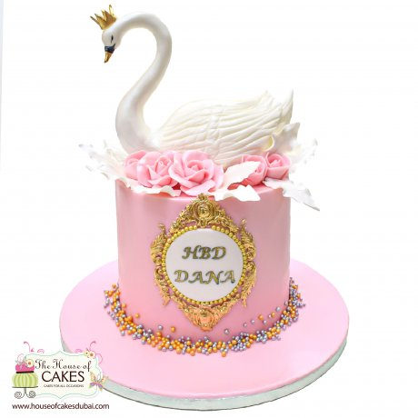 cake with swan 6