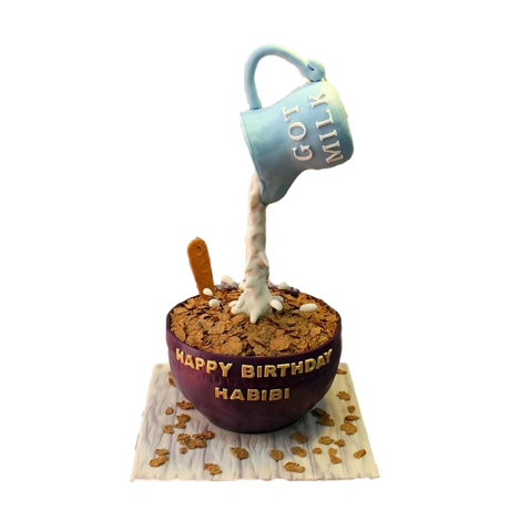 cereals and milk cake 6