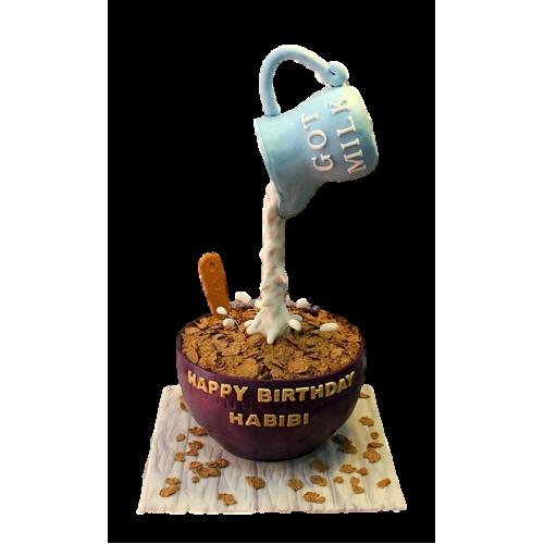 cereals and milk cake 7