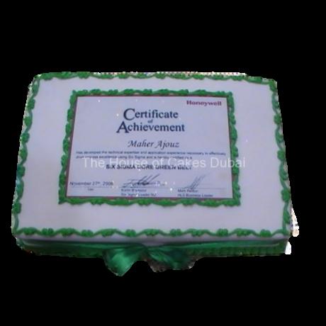 Certificate Cake
