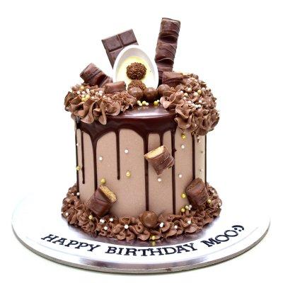 Dripping Chocolate Fantasy Cake
