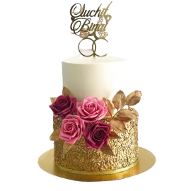 Engagement Rings Cake 3