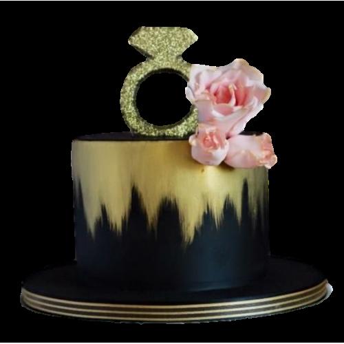 engagement ring cake 9 7