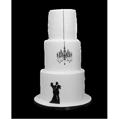elegant wedding or engagement cake 12