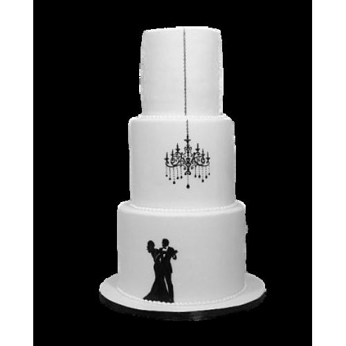 elegant wedding or engagement cake 13