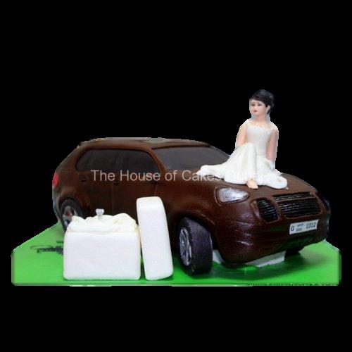 engagement car cake 7