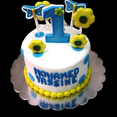 First birthday cake 12