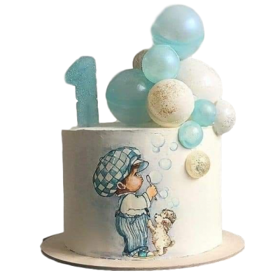 First birthday cake 18