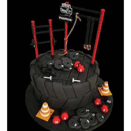 fitness equipment cake 6