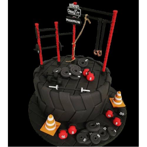 Fitness equipment cake